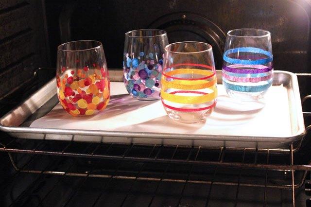 Bake Glass With Acrylic Paint