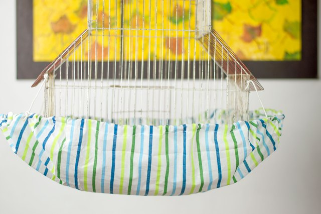 how to make a bird cage seed catcher  with pictures