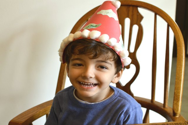 How to Make Christmas Party Hats for Children