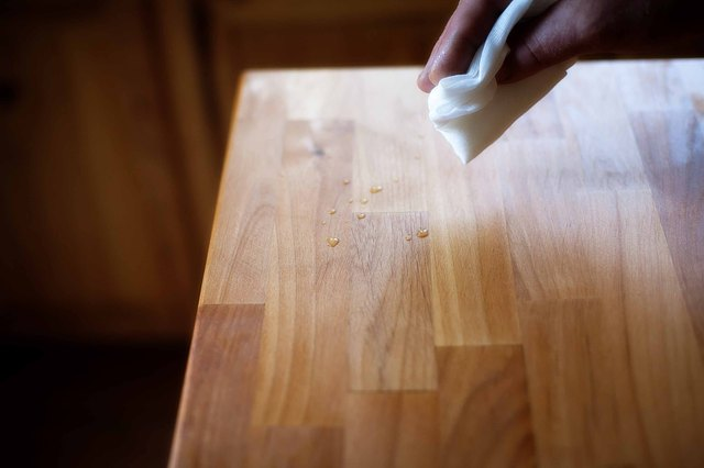 Refinishing Butcher Block Kitchen Table : How to Refinish a Butcher Block (with Pictures) eHow