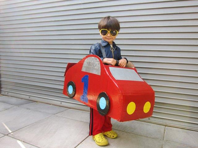 How To Make A Cardboard Race Car