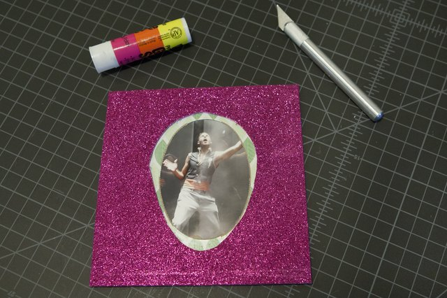 How to make photo frames out of waste with pictures ehow for Waste materials at home