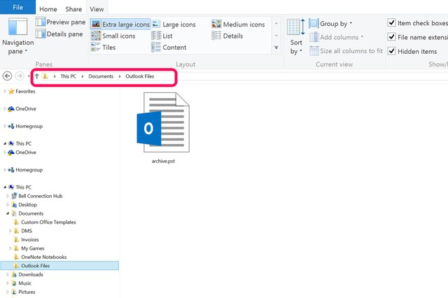 how to add archive folder in outlook