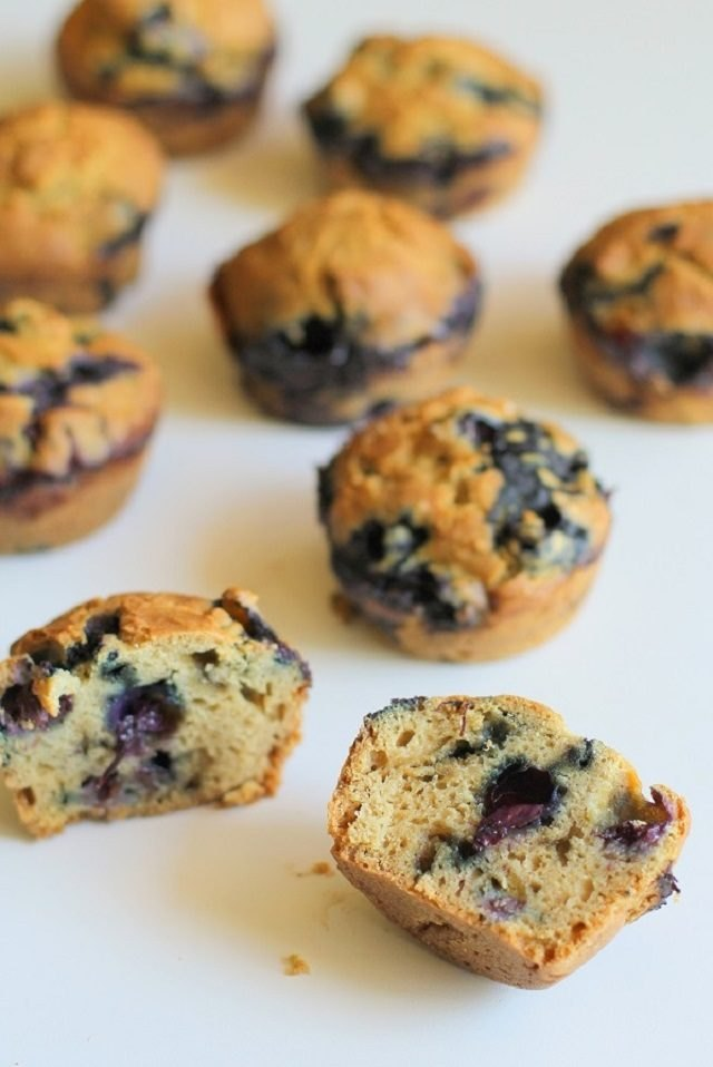 The sweet bread and tangy blueberries make this a standout breakfast muffin.