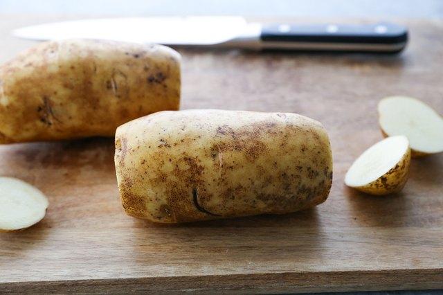 Cut off the potato ends