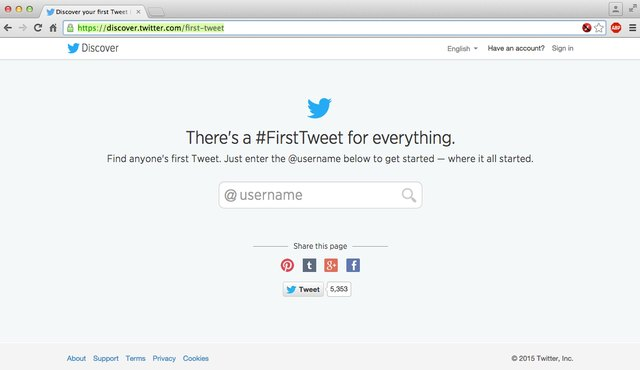 Open the Discover Your First Tweet site.