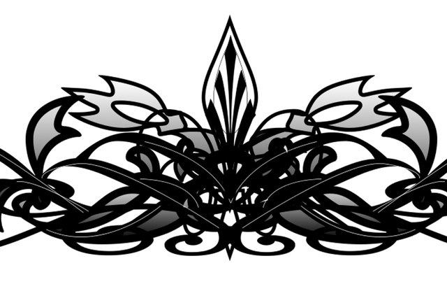 Adding a Fleur-de-lis and thin black lines to the center.