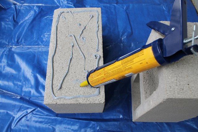 Add concrete adhesive.