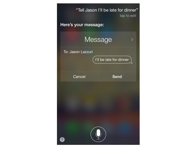 Message commands with Siri