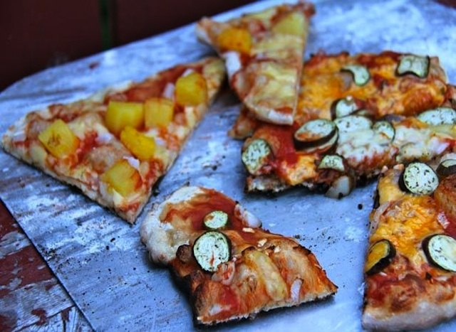 Take your pizza party outside with grilled pizzas.