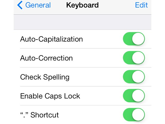 how to turn on spell check iphone