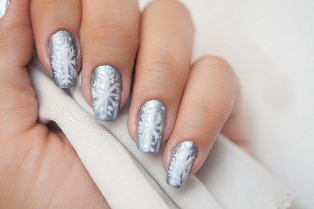 Do-It-Yourself Snowflake Nail Art