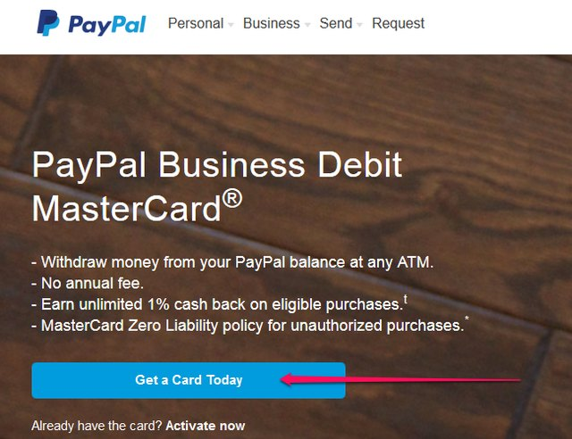 How to Get a PayPal Debit Card