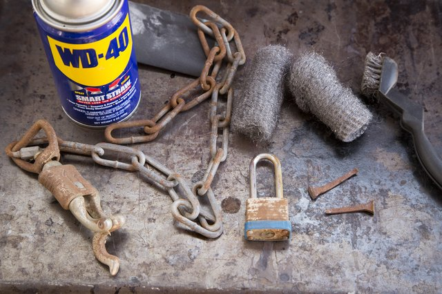 How To Use Wd 40 To Remove Rust With Pictures Ehow