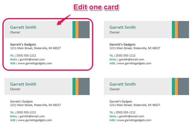 Custom Card Template making business cards in word : How to Make Business Cards in Microsoft Word : eHow