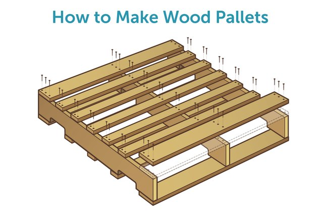 How to make wood pallets with pictures ehow for How to build a house out of wood pallets
