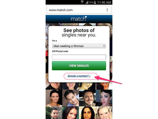 mobile match.com login rediffmail