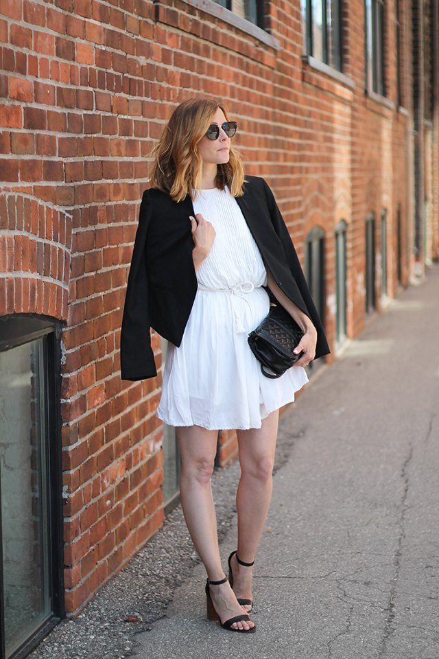 White Summer Dress Polished Look