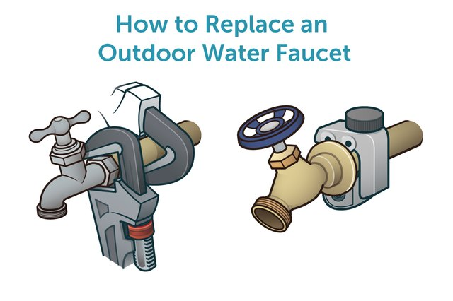 how to replace an outdoor water faucet with pictures ehow