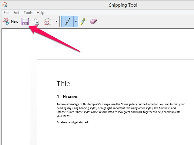 Write notes or highlight sections of your screenshot by using the Pen or Highlighter tools.