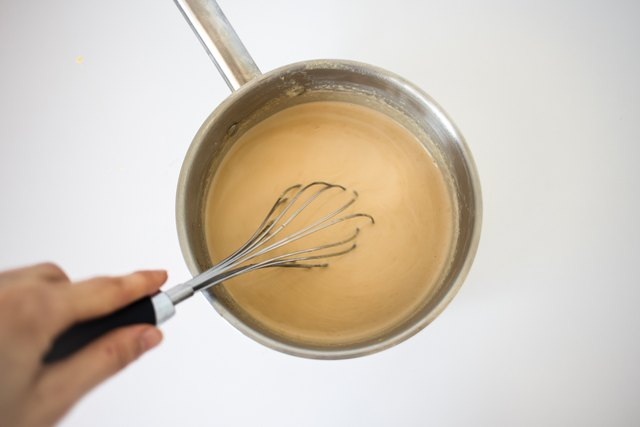 Whisk to combine the two mixtures.