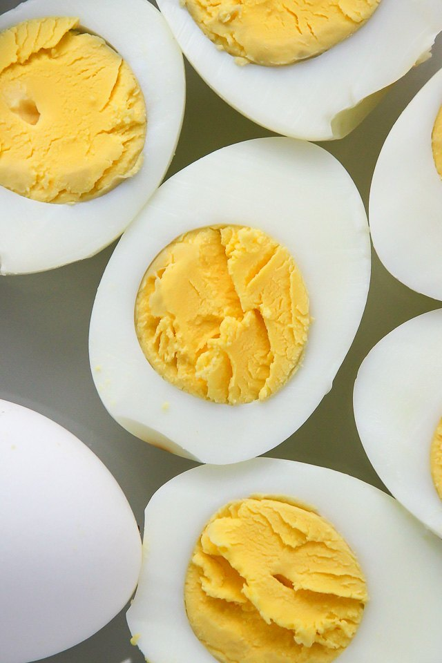 Peel eggs and serve.