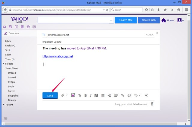 Send your email as soon as you complete it -- no need to use every step.