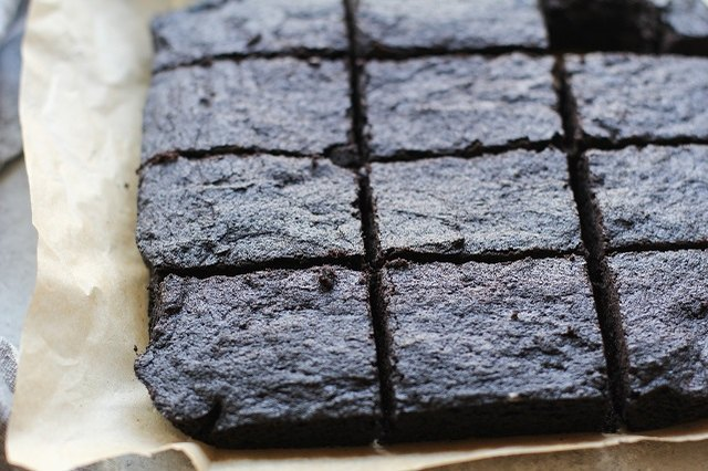 Cut brownies into squares once cool