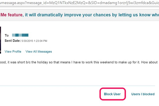 Any user you converse with on POF can be blocked.