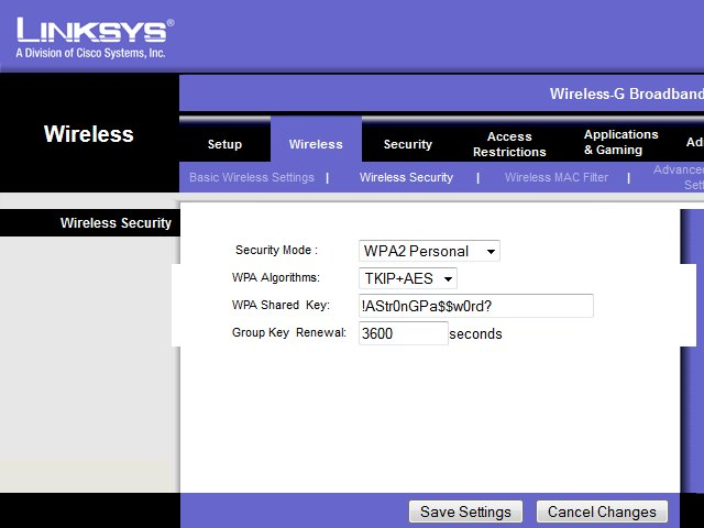 How to Put a Password on Linksys Wi-Fi