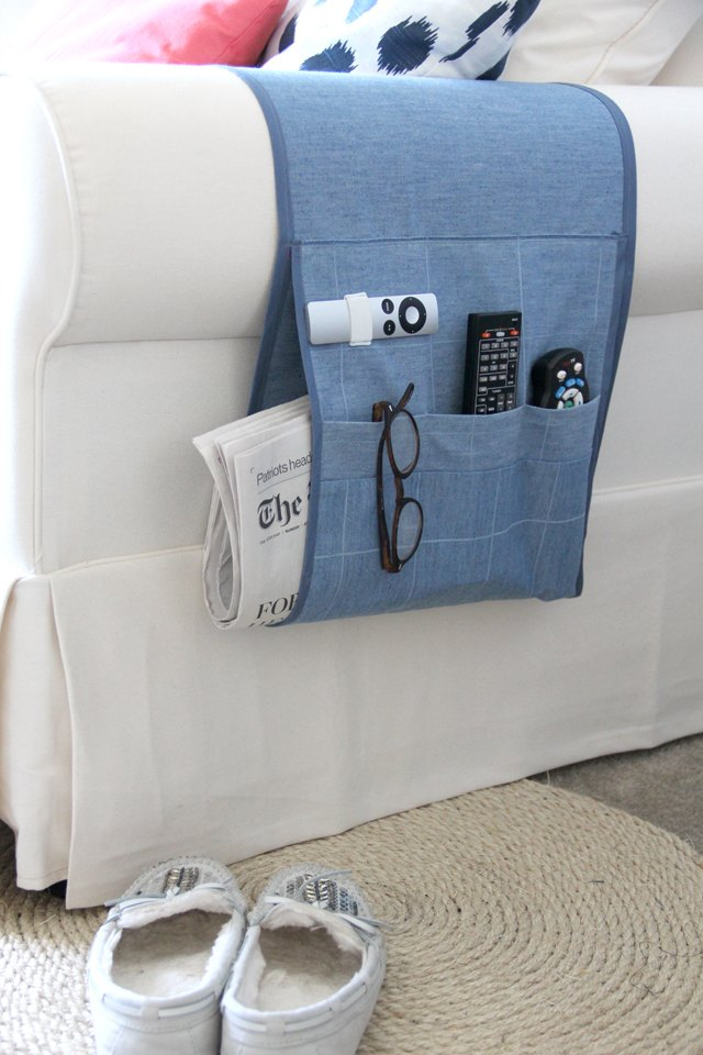 How to Make an Arm Chair Remote Holder | eHow