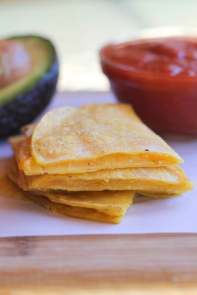 Serve quesadillas with your favorite salsas or dips.
