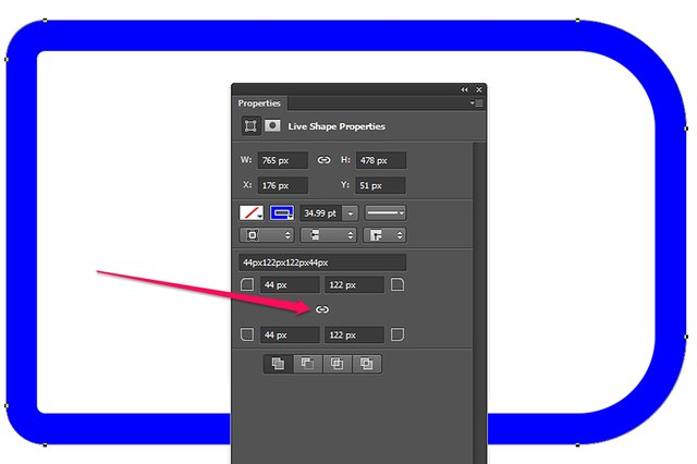 In Photoshop CC you can specify a different radius for each corner.