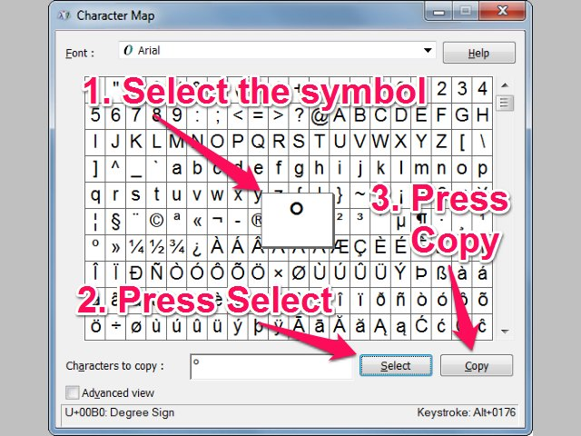 How To Write Degree Symbol In Word