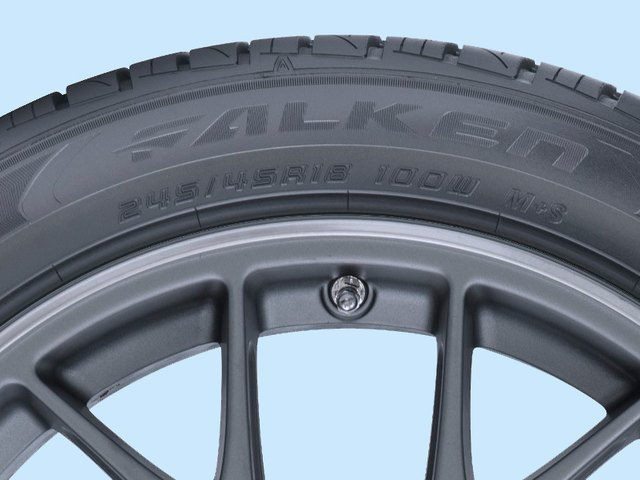 All tires have a size stamp on the sidewall.