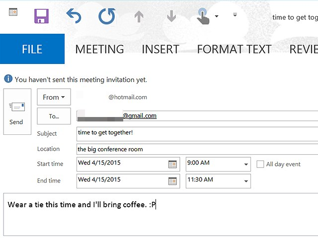 how to send meeting request in skype