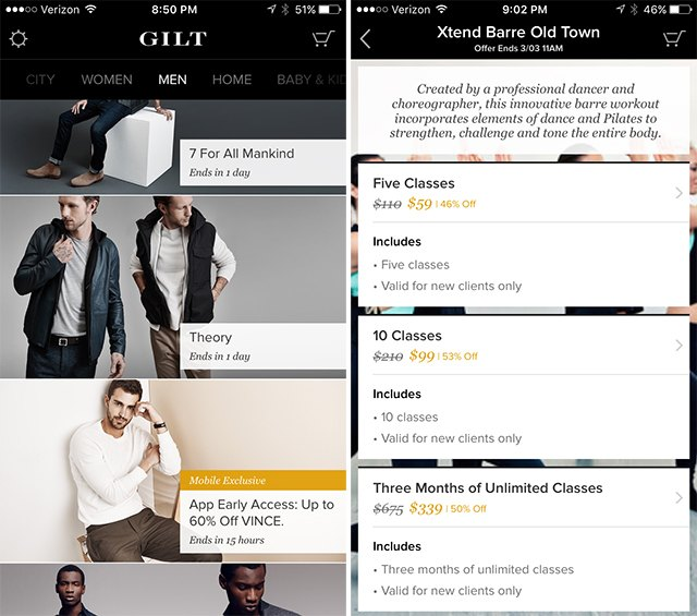 Get daily deals on luxury brands on Gilt.