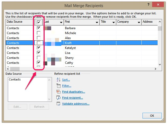 Create A Mailing List In Word