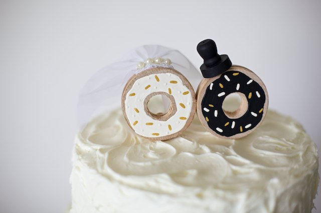 Make the sweetest bride and groom donut duo for your perfect day.