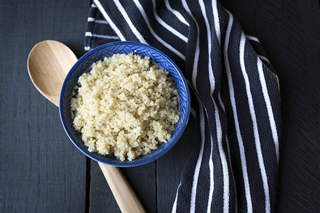 Eat clean whole grains, like quinoa, for lots of fiber.