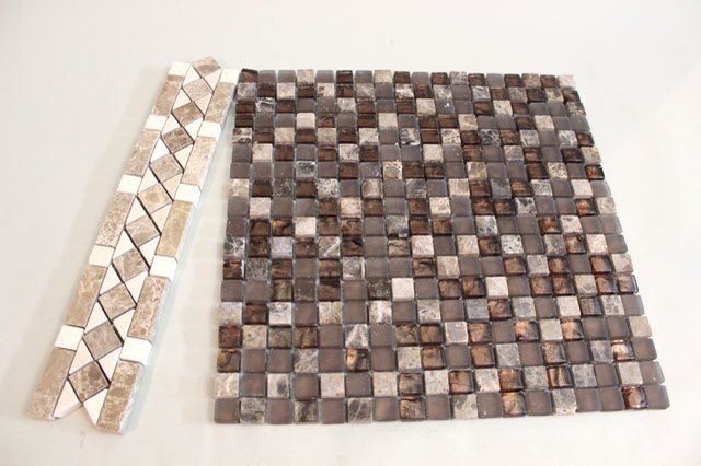 Precut tiles can be found at home improvement stores.