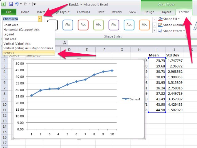 How to Create a Standard Deviation Graph in Excel | eHow