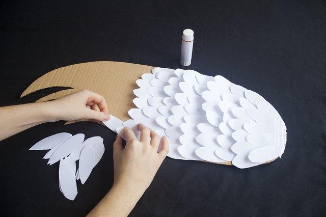 Как сделать крылья ангела из бумаги своими
