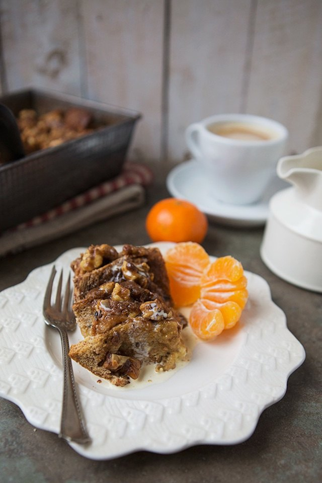 This cinnamon roll French toast bake will warm you up, body and soul.