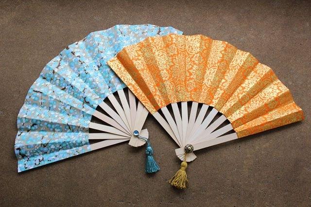 Как сделать из бумаги японский веер