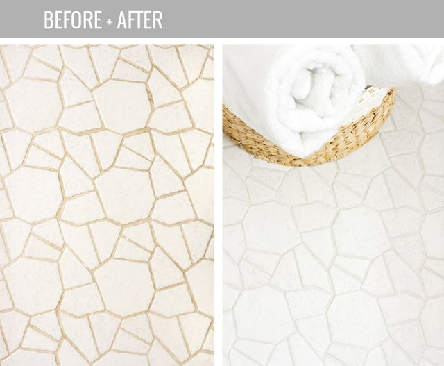 Easiest way to clean grout ehow for How to make grout white again