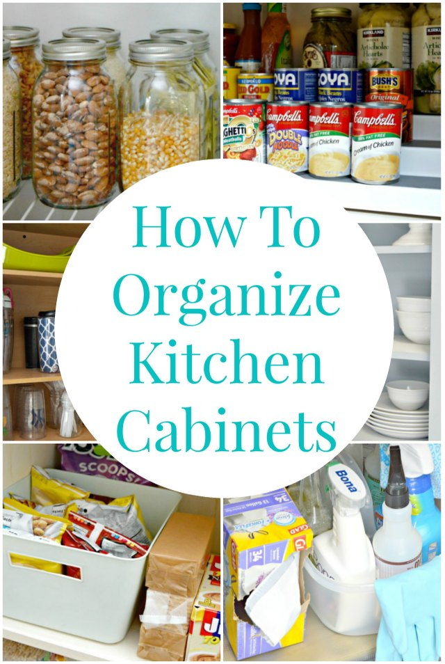 How to organize your kitchen cabinets for not a lot of for Best product to remove grease from kitchen cabinets