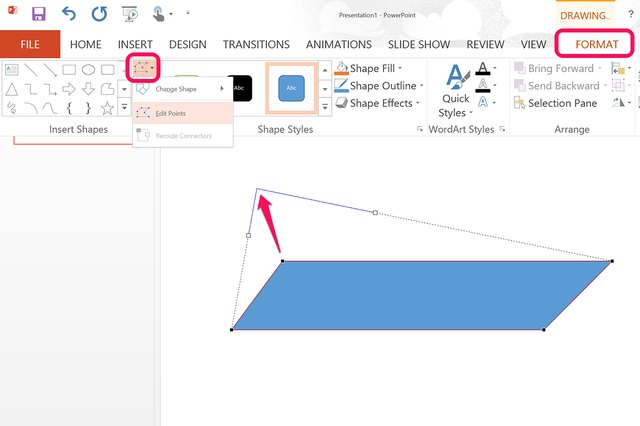 how to change shape opacity in powerpoint