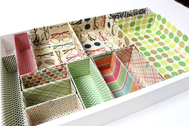 Create your own cardboard box desk drawer organizers ehow - Make your own desk organizer ...