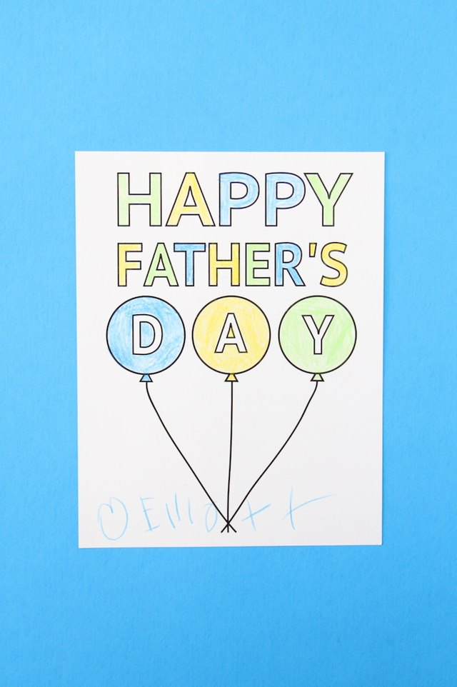 This printable Father's Day card is a surefire way to show your appreciation for dad.